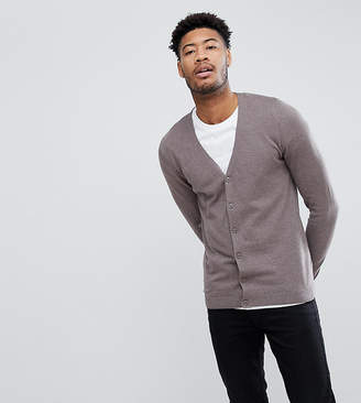 Asos DESIGN TALL Cotton Cardigan In Brown