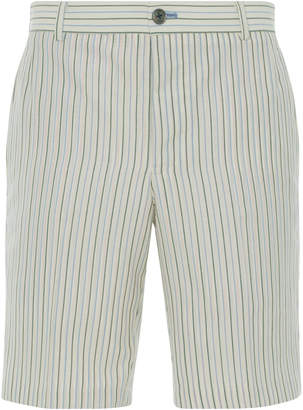 Thom Browne Striped Wool And Silk Chino Shorts