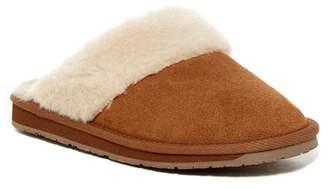 Minnetonka Sondra Scuff Faux Fur Lined Suede Slipper (Women)
