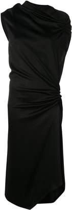 Narciso Rodriguez ruched midi flared dress
