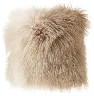 Michael Aram Dip Dye Curly Sheepskin Pillow