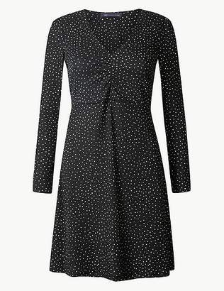 Marks and Spencer PETITE Polka Dot Fit & Flare Dress