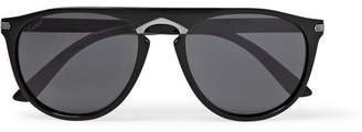 Cartier Eyewear Signature C De Round-Frame Acetate Sunglasses