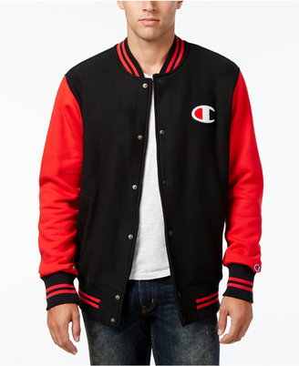 Champion Men's Reverse Weave Baseball Jacket $70 thestylecure.com