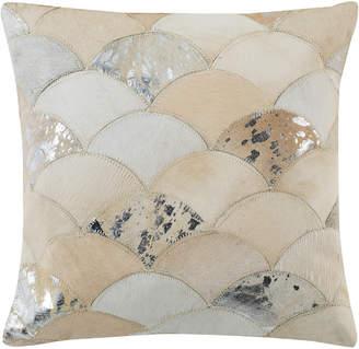 Safavieh Metallic Scale Cowhide Pillow