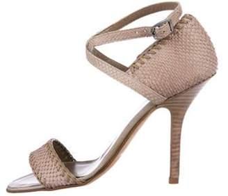 John Varvatos Snakeskin Ankle-Strap sandals Grey Snakeskin Ankle-Strap sandals