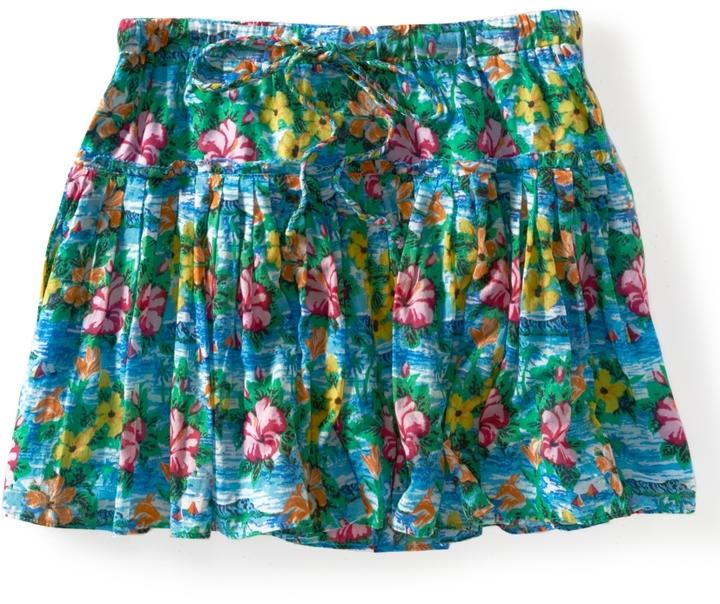 Aeropostale Hawaiian Print Knit Skirt