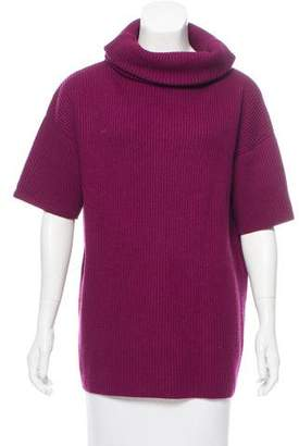 Christian Dior Short Sleeve Rib Knit Turtleneck
