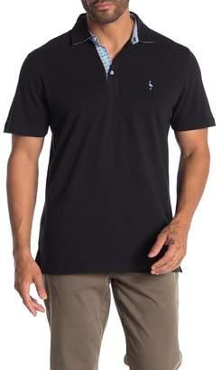 Tailorbyrd Woven Under Collar Short Sleeve Polo