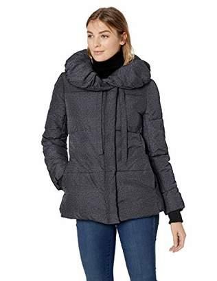 Lark & Ro Amazon Brand Women's Short Shawl Pillow Collar Puffer Jacket