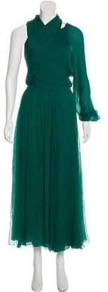 Gucci Asymmetrical Silk Gown w/ Tags