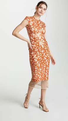 Sandra Mansour Sleeveless Embroidered Dress