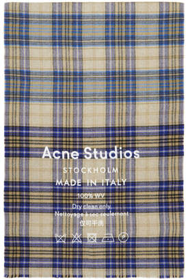 Acne Studios Brown Cassiar Check Scarf