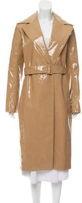 The Row Patent Leather Long Coat