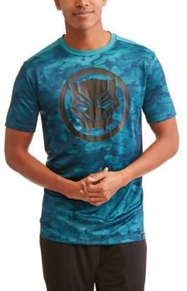 Super Heroes & Villains Marvel Black Panther Logo Big Men's Active Graphic T-shirt