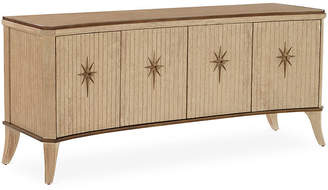 Global Views Klismos Media Cabinet - Sandblasted Oak