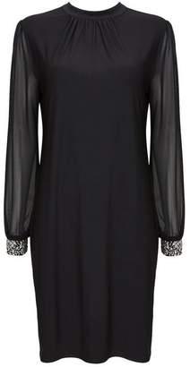 Wallis Black Embellished Cuff Shift Dress