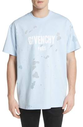 Givenchy Destroyed Logo Graphic T-Shirt