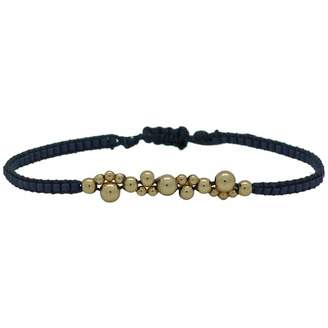 LeJu London - Gold Bubble Bracelet Dark Blue