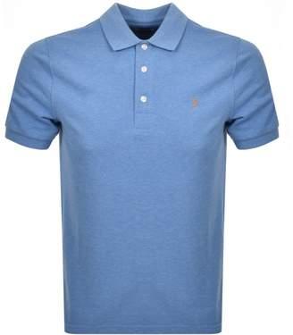 Farah Short Sleeved Polo T Shirt Blue