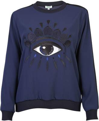 Kenzo Blue Blouse With Embroidered Detail