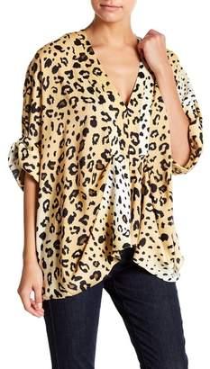 KENDALL + KYLIE Kendall & Kylie Dolman Sleeve Print Blouse