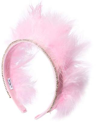 MonnaLisa Cotton Headband W/ Feathers
