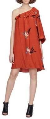 French Connection Delphine Drape One-Shoulder Dress