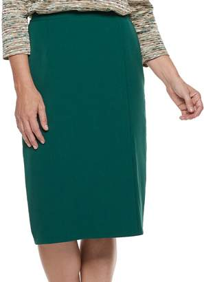 Alfred Dunner Women's Studio Solid Straight Skirt