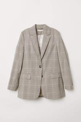 H&M Straight-cut Jacket - Beige