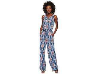Tahari ASL Geo-Print Blouson Jumpsuit Women's Jumpsuit & Rompers One Piece