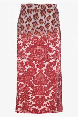 Clements Ribeiro Printed Midi Skirt