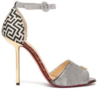 Christian Louboutin Notte Bella 100 Leather Sandals - Womens - Multi