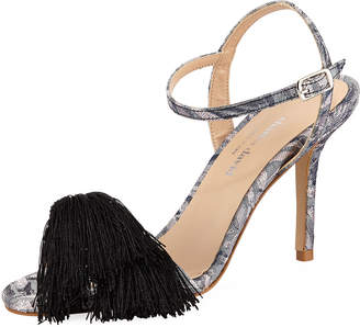 Charles David Sassy Dress Sandal with Tassel, Gray