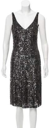 Nicole Farhi Sequined Midi Dress