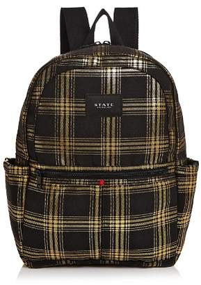 STATE Kane Metallic Plaid Backpack