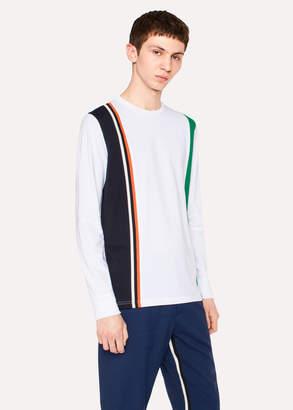Paul Smith Men's White Block-Stripe Long-Sleeve T-Shirt