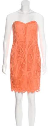 Alberta Ferretti Strapless Embroidered Dress