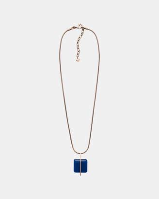 Skagen Sea Glass Rose Gold-Tone Necklace