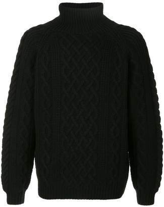 H Beauty&Youth cable knit turtle neck sweater