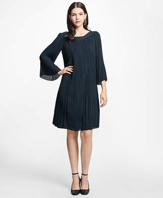 Pleated Boatneck Dress $298 thestylecure.com