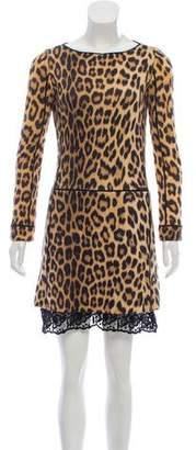 Blumarine Animal Print Mini Dress