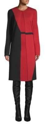 St. John Colorblock Sweater-Coat