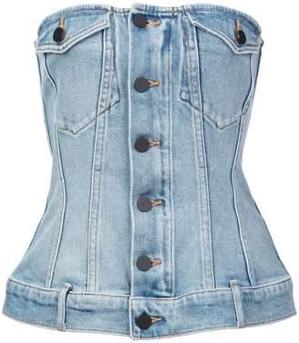 Alexander Wang denim corset top
