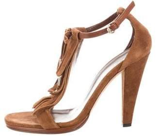 Gucci Suede Fringe Sandals