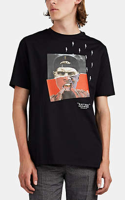 Neil Barrett Men's Hybrid-Print Cotton T-Shirt - Black