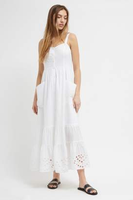 French Connenction Ancole Broderie Midi Dress