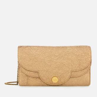 See by Chloe Women's Polina Glitter Clutch Bag - Sandy Brown