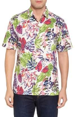 Tommy Bahama Riviera Garden Floral Silk Blend Camp Shirt