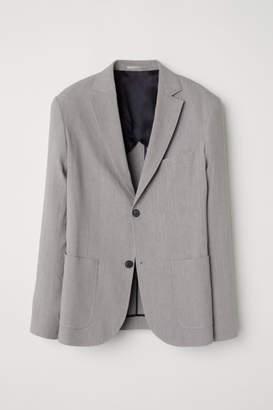 H&M Linen-blend Blazer - Gray